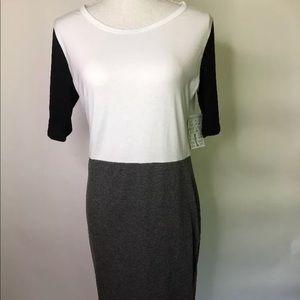 NWT Lularoe Julia Black White Grey Dress